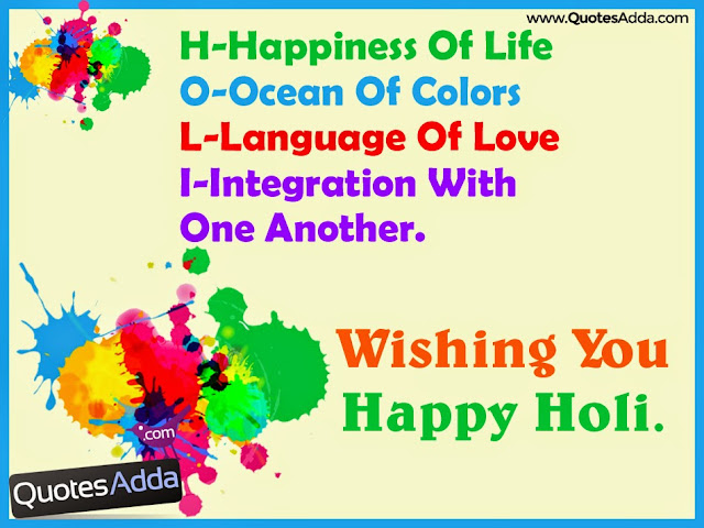 Picture Of Holi Festival With Quotes