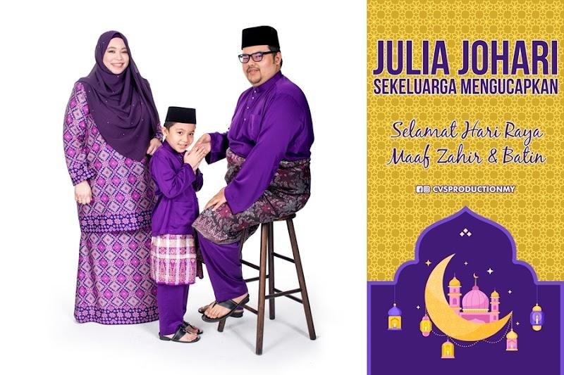 Selamat Hari Raya Maaf Zahir Batin dari Julia Sekeluarga, Inilah Tema Raya Kami Tahun 2019 Ewahhh!