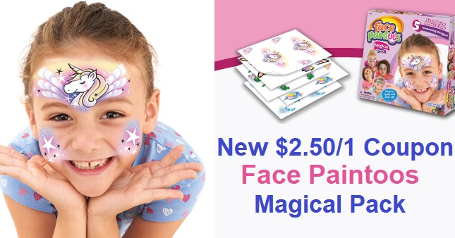Face Paintoos $2.50 Off One Printable Coupon