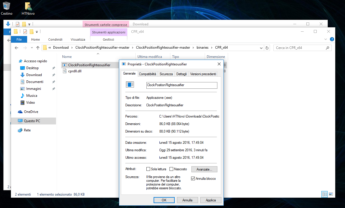 Come riposizionare l'orologio alla fine della Taskbar in Windows 10 AU 7 HTNovo