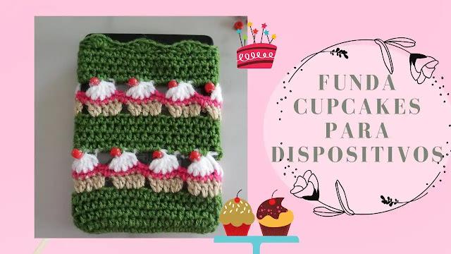 Protege tus Dispositivos con Esta Funda de Cupcakes a Crochet