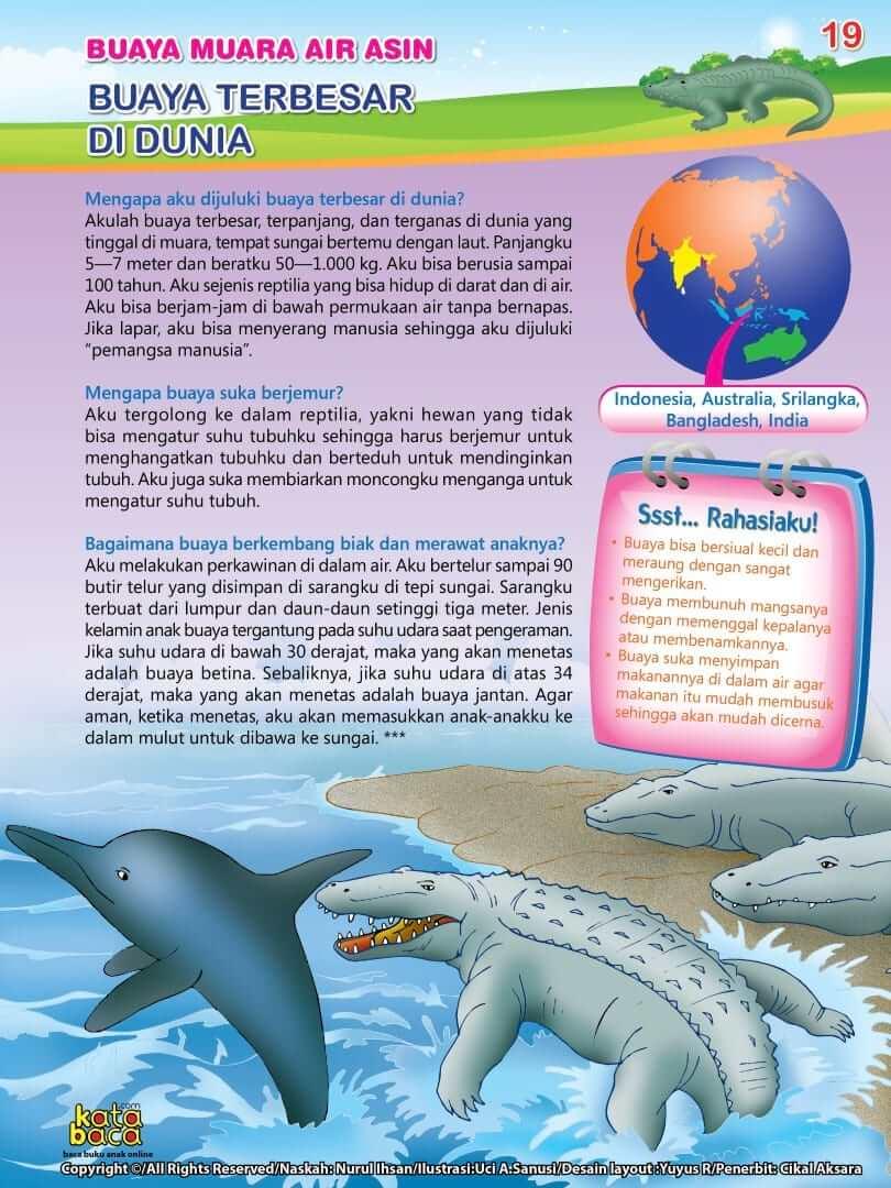 Buaya Muara Air Asin adalah Buaya Terbesar di Dunia
