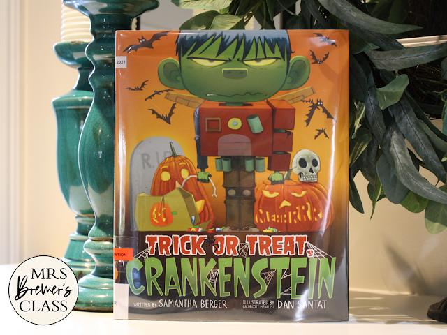 Trick or Treat Crankenstein book activities unit with companion activities, class book, & craftivity for Kindergarten & First Grade
