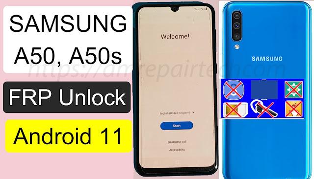 Samsung A50 FRP Bypass U7 Android 11 Downgrade Firmware