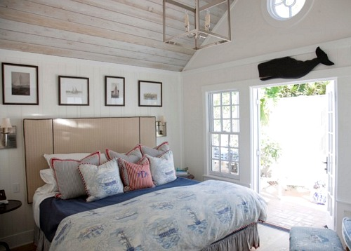 Wood Panelling on Bedroom Ceiling