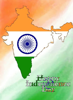 map of india in tricolors