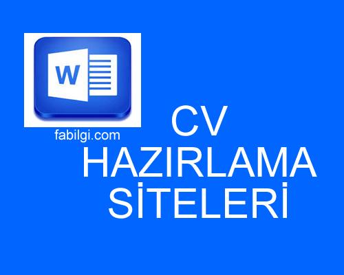 Ücretsiz Detaylı Özgeçmiş (CV) Hazırlama Siteleri Tanıtım