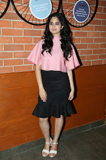 Purvi Takkar in Pink 3 4th Top and Black Knee Length Skirt at Chocolate Room Launch Event