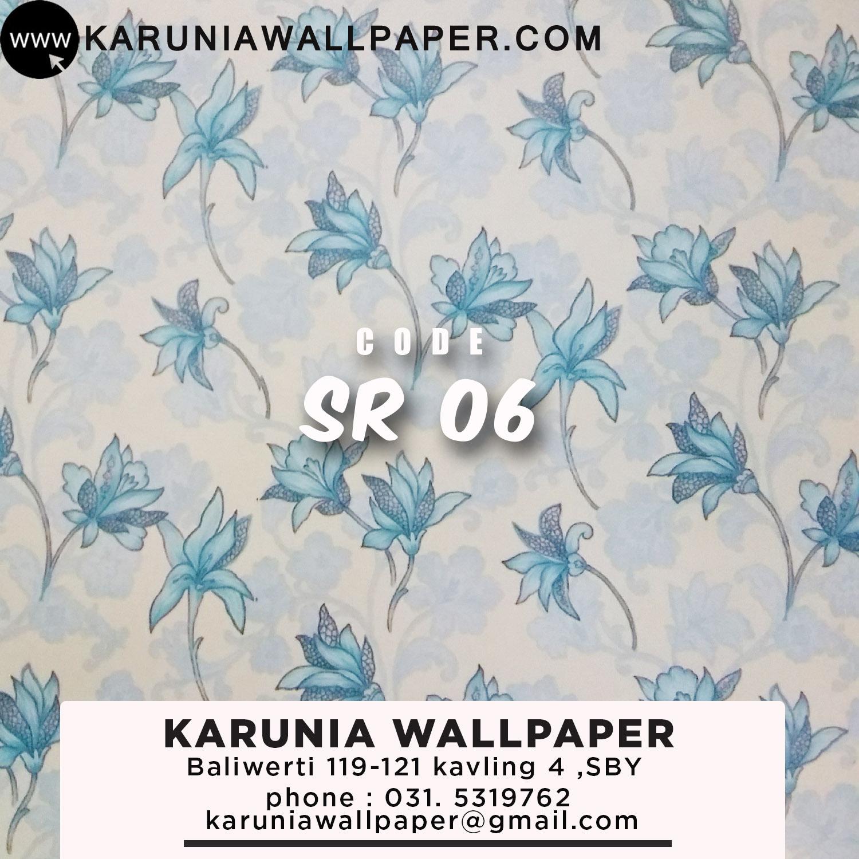 wallpaper dinding surabaya bunga biru karuniawallpaper