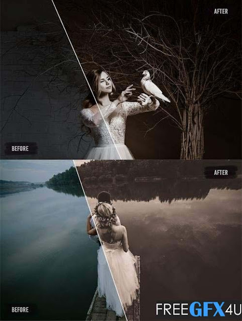 50 Sepia Wedding Lightroom Presets