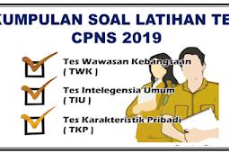 Download Gratis Ebook Soal Tes CPNS Soal TWK Soal TIU dan Soal TKP Penerimaan CPNS 2019 www.sscn.bkn.go.id