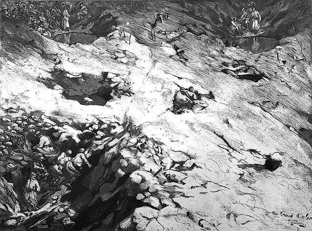 André Devambez war holes from a birdseye view