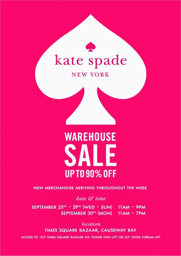 Brand new Hong Kong Fashion Geek: Kate Spade Warehouse Sale YG39