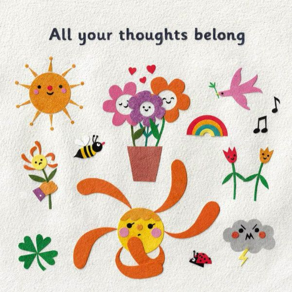 all your thoughts belong - example page from board book, Always Be You