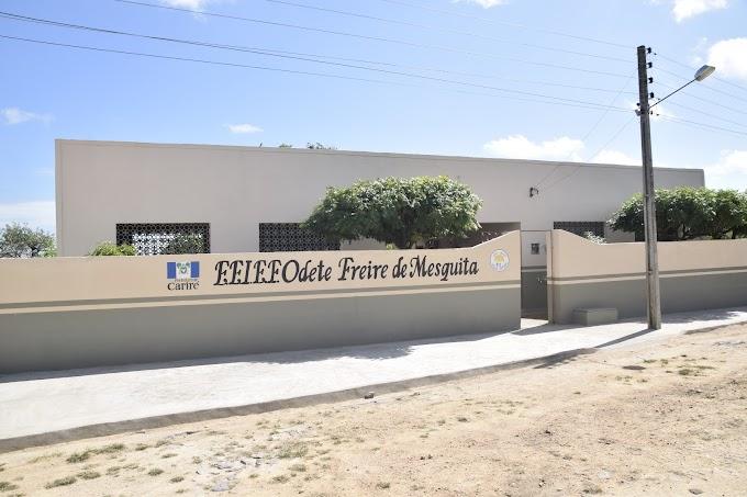 Escola Odete Freire de Mesquita da localidade Flores, município de Cariré, é reinaugurada pelo prefeito Antônio Martins