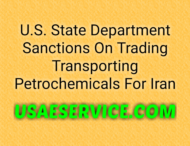 U.S. State Department Sanctions On Iran