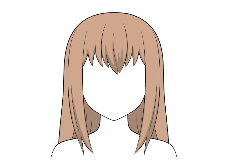 Shading rambut panjang anime