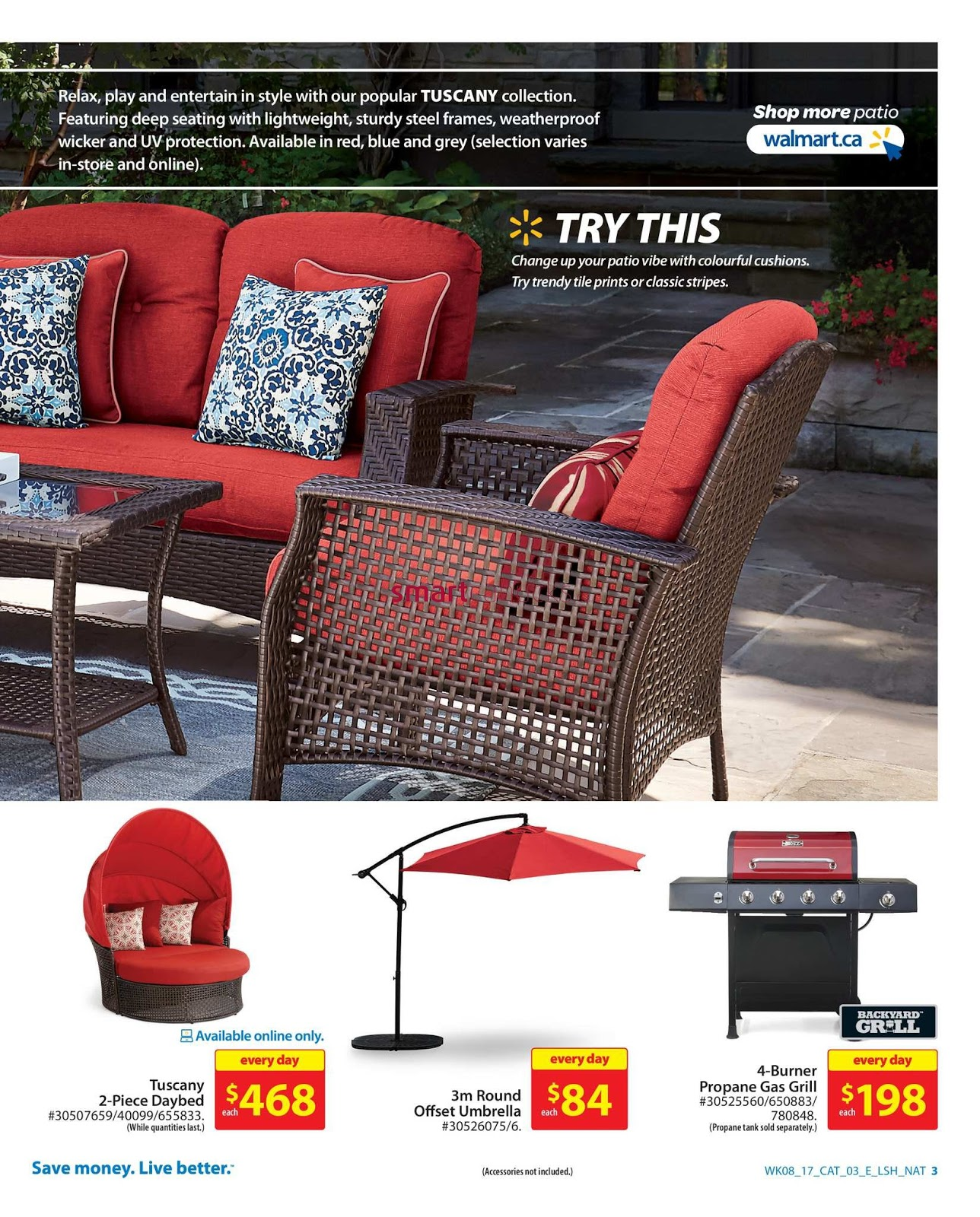 walmart outdoor living catalogue march 16 29 2017 weekly