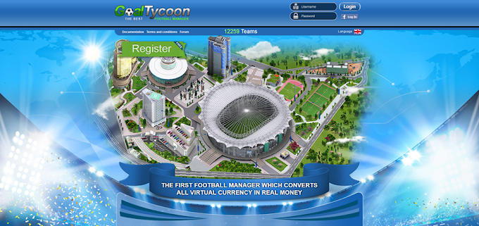 earn online playing football from goaltycoon