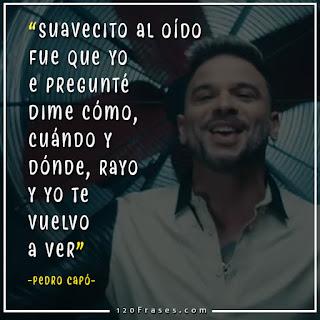 """Pedro Capó con letra de su cancion """"buena suerte"""""""
