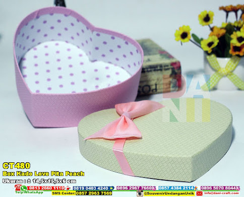 Box Kado Love Pita Peach