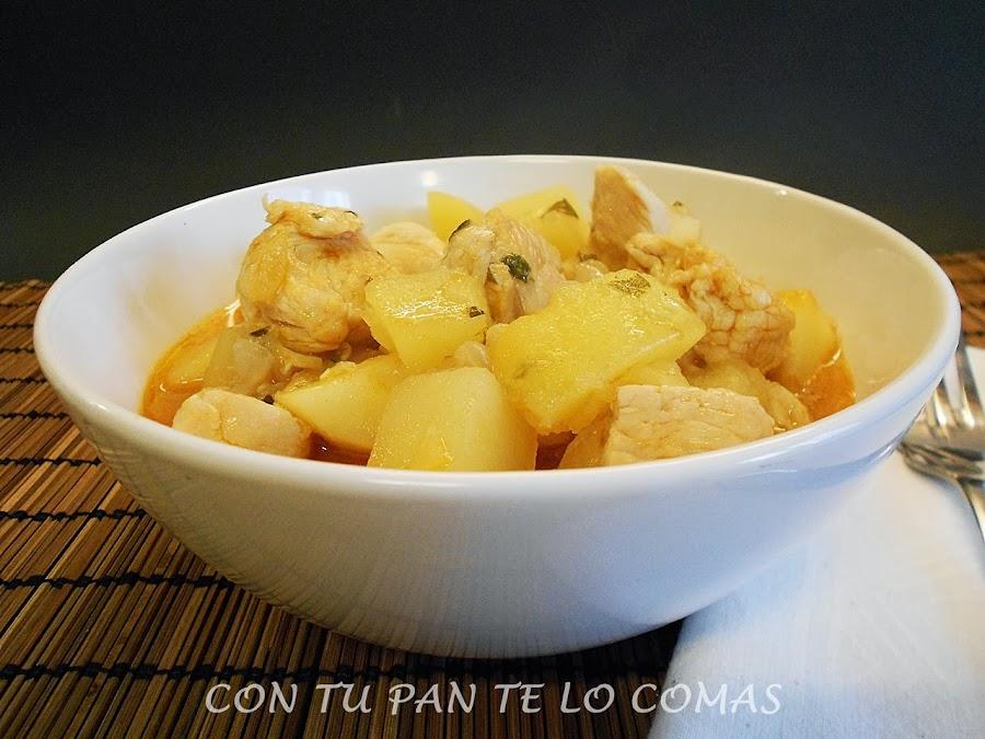 Guisado de pavo con patatas