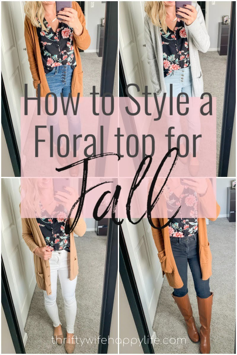 How to Style a Floral Top for Fall