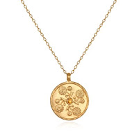 November Birthstone Pendant with Chrysanthemum - Satya Jewelry - Jewellery Blog