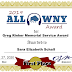 2019 ALL WNY AWARD: Greg Rinker Memorial Service Award: Sara Elizabeth Schall