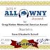 2019 ALL WNY AWARD: Greg Rinker Memorial Service Award: Sara Elizabeth Schall