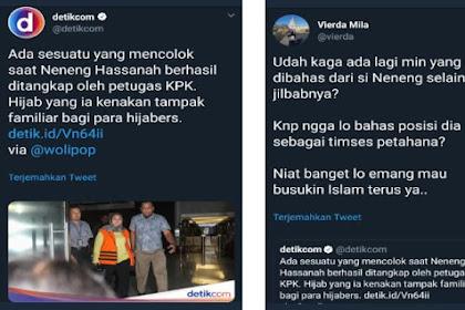 "Detikcom ""Dikepret"" Warganet! Gak Bahas Neneng Timses Jokowi, Malah Sibuk Bahas Jilbabnya: Niat Banget Busukin Islam"