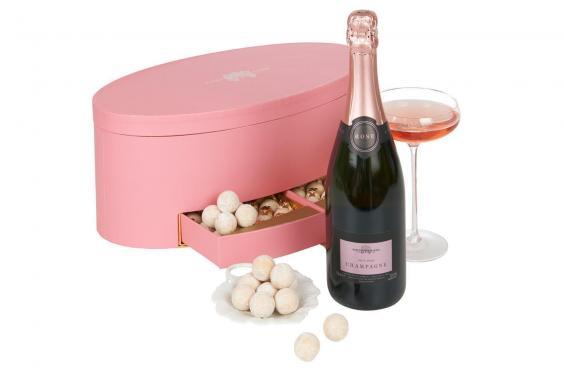 champagne & boîte à truffes