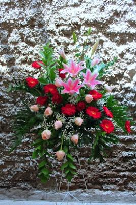 Karangan bunga - alam sutera serpong