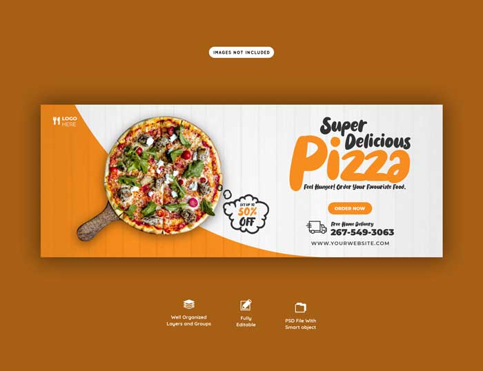 Delicious Pizza Food Menu Banner Template
