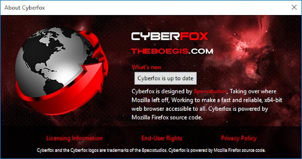 Cyberfox 52.9.1 Offline Installer