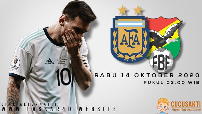 Prediksi Bola Bolivia vs Argentina Rabu 14 Oktober 2020