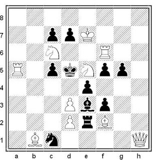 Problema de mate en 2 compuesto por Luis Gómez Palazón (4º Recomendado, Jubileo I. Kazimov-65, 2017)
