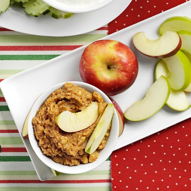 cashew butter and apple slices