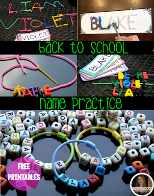 I love to use names of students in the classroom for fun literacy centers and beginning of the year projects. This packet has some great ideas to help start your year out right! Personalize all of the printables with your class list!