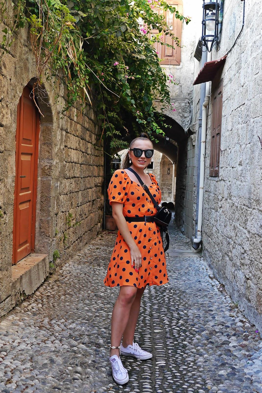 alejka rodos miasto rhodes grecja  karyn blog modow blogerka modowa podróż poślubna
