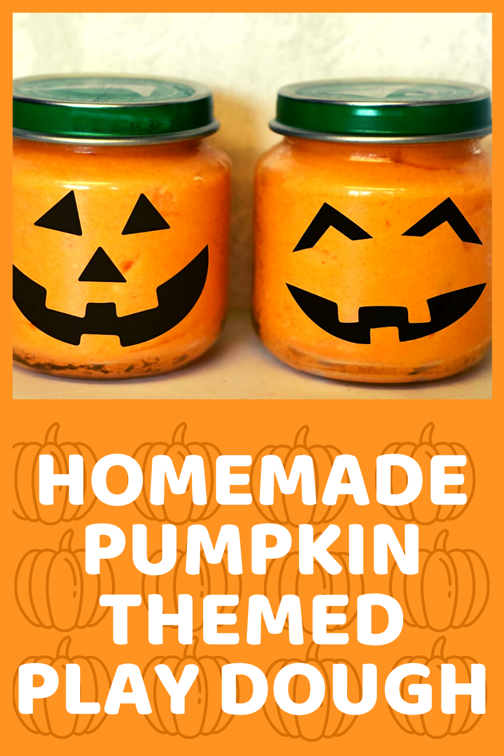 Homemade Pumpkin Themed Play Dough DIY