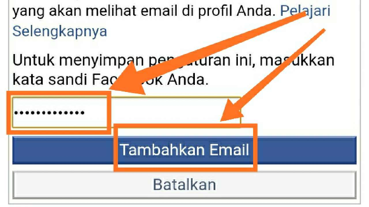 Cara Mengganti email Facebook dengan nomor HP