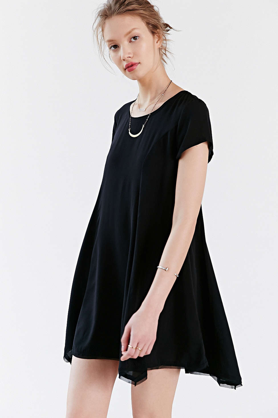 Urban Outfitters, Silence + Noise Witchy T-Shirt Dress, Black