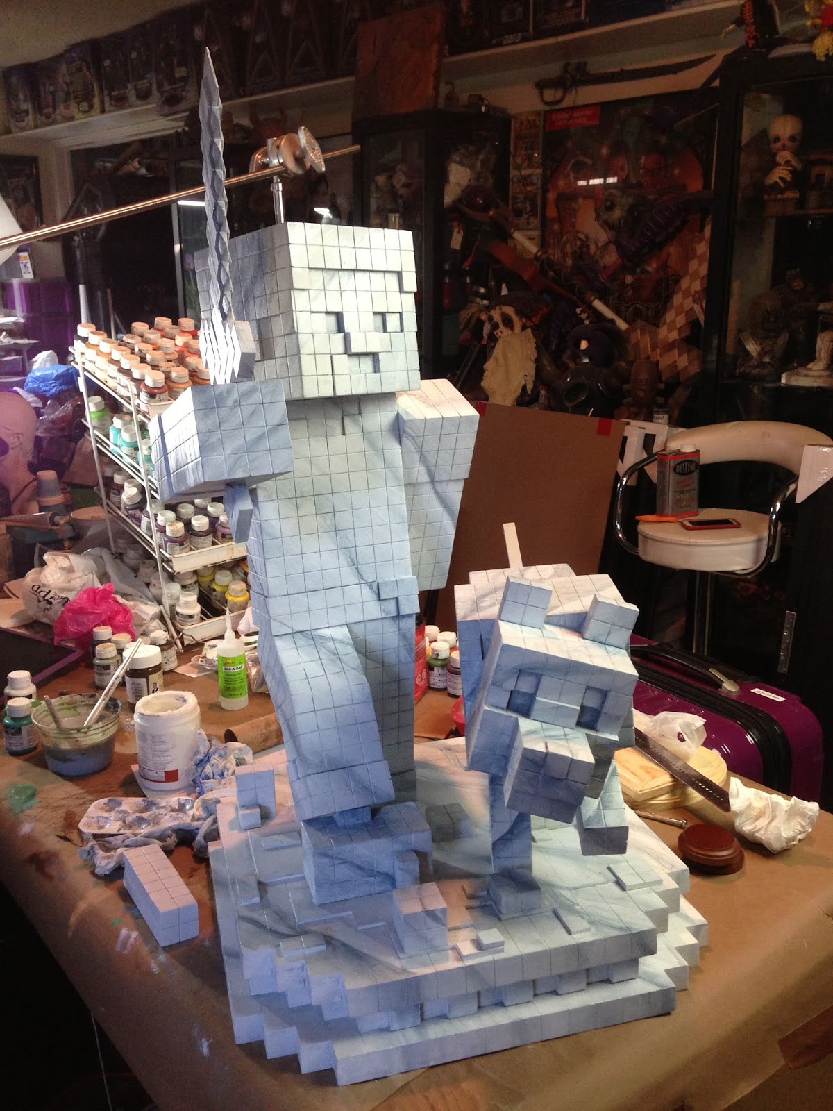 Greg Aronowitz Minecraft Art Exhibit At The V Amp A Museum In