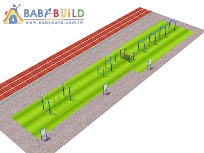 BabyBuild 兒童體適能遊戲場設計彩圖