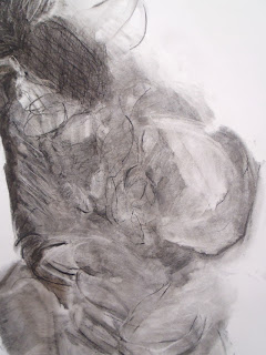 Happenstance detail, charcoal on paper