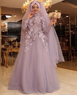 gaun pengantin muslimah casual