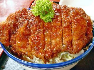 ジャンボカツ丼 / ラーメン処 天神 (会津若松市)