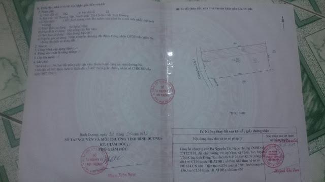 Bán đất Thường Tân Thị Xã Bắc Tân Uyên Tỉnh Bình Dương  3631 mv (CYNT)