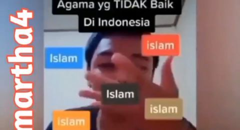Dikecam! Video TikTok Ini Sebut Islam Agama yang Tidak Baik di Indonesia